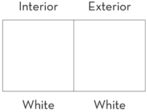 Product Window Colors - White Standard