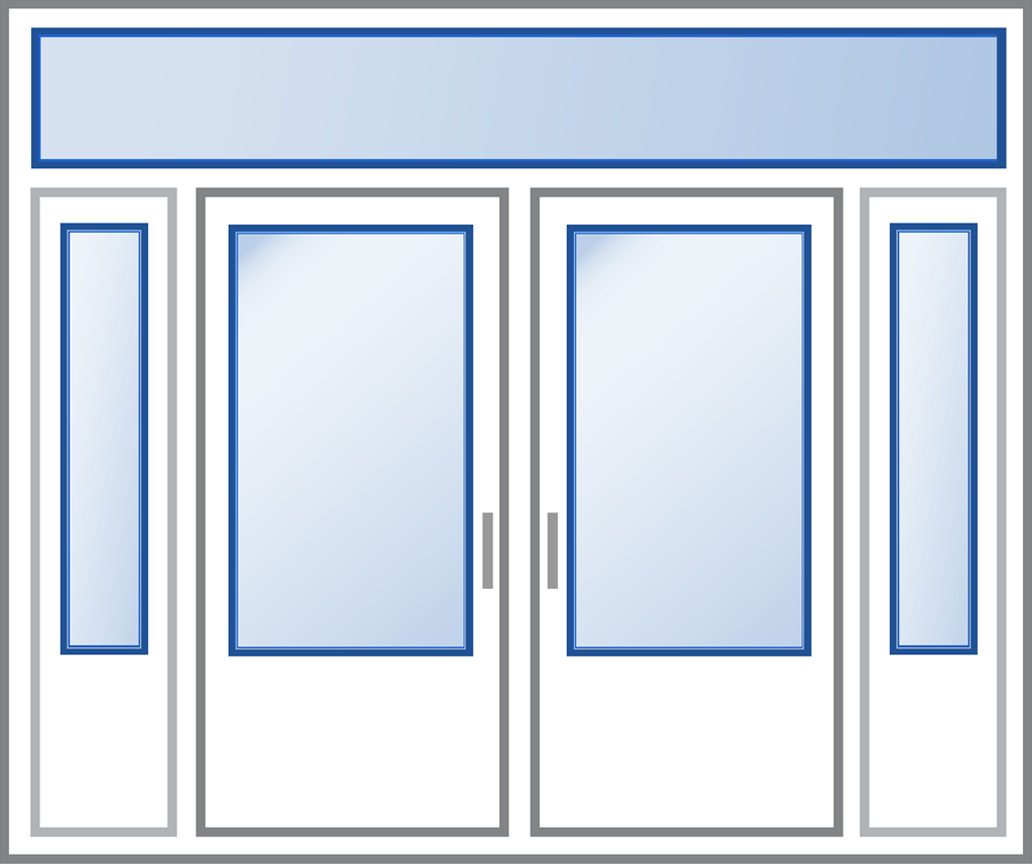 Entry Door - Glass Illustration