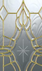 Entry Door - Brass Caming