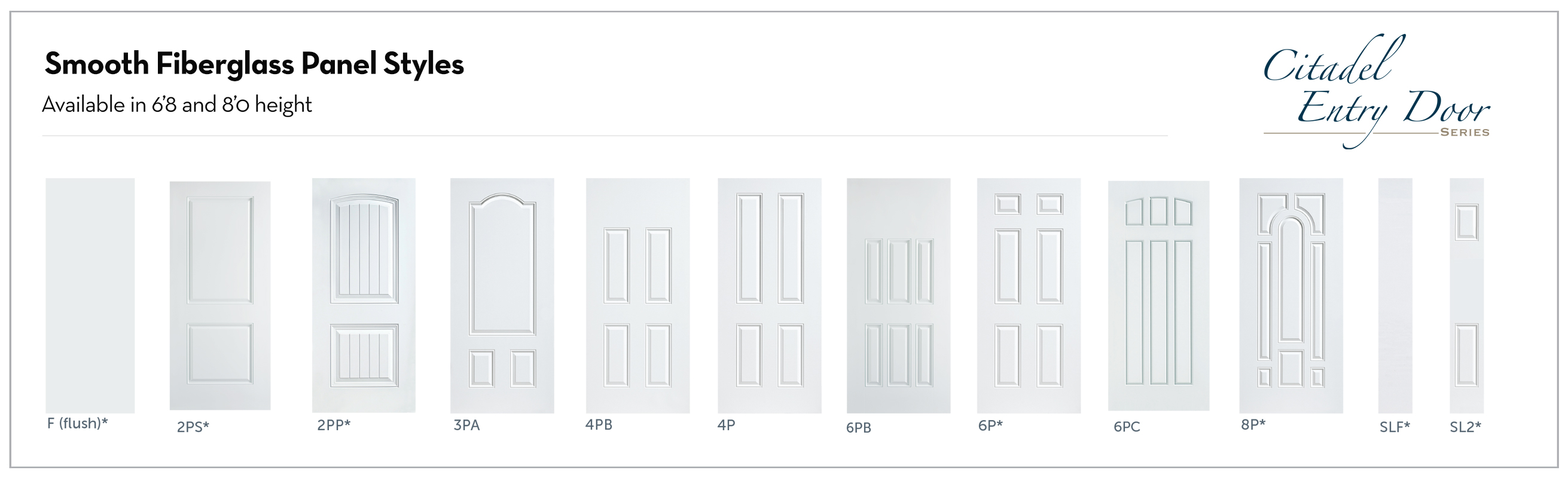 Entry Door -Fiberglass Panels