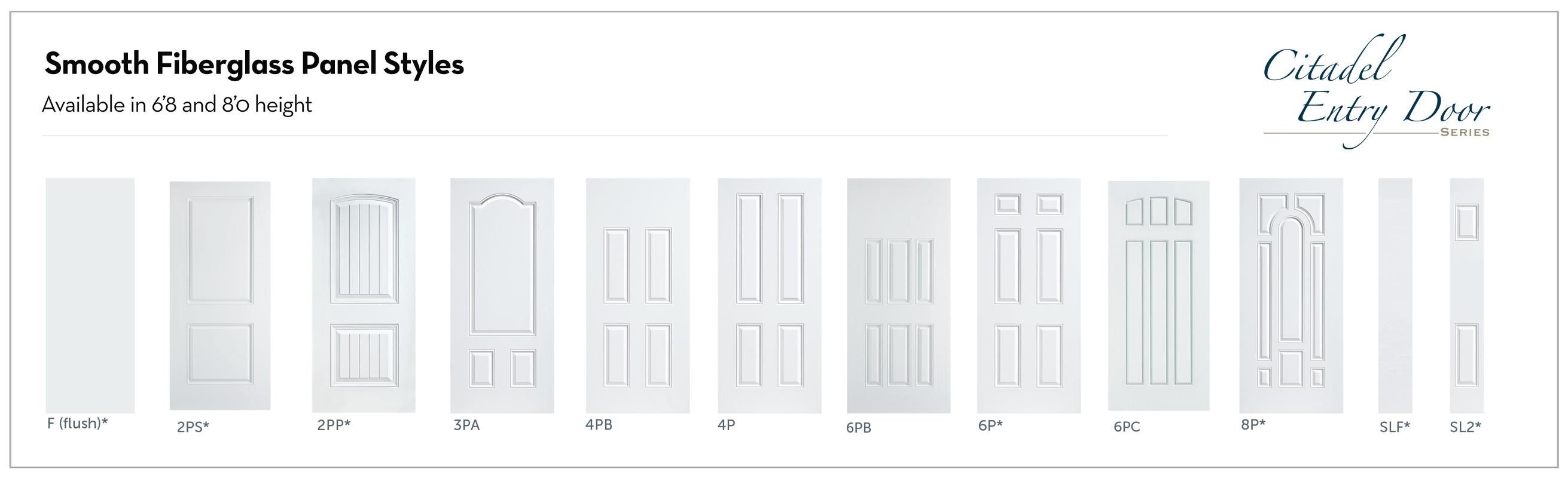 Entry Door -Fiberglass Panels