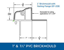 Window Accessories - PVC Brickmould