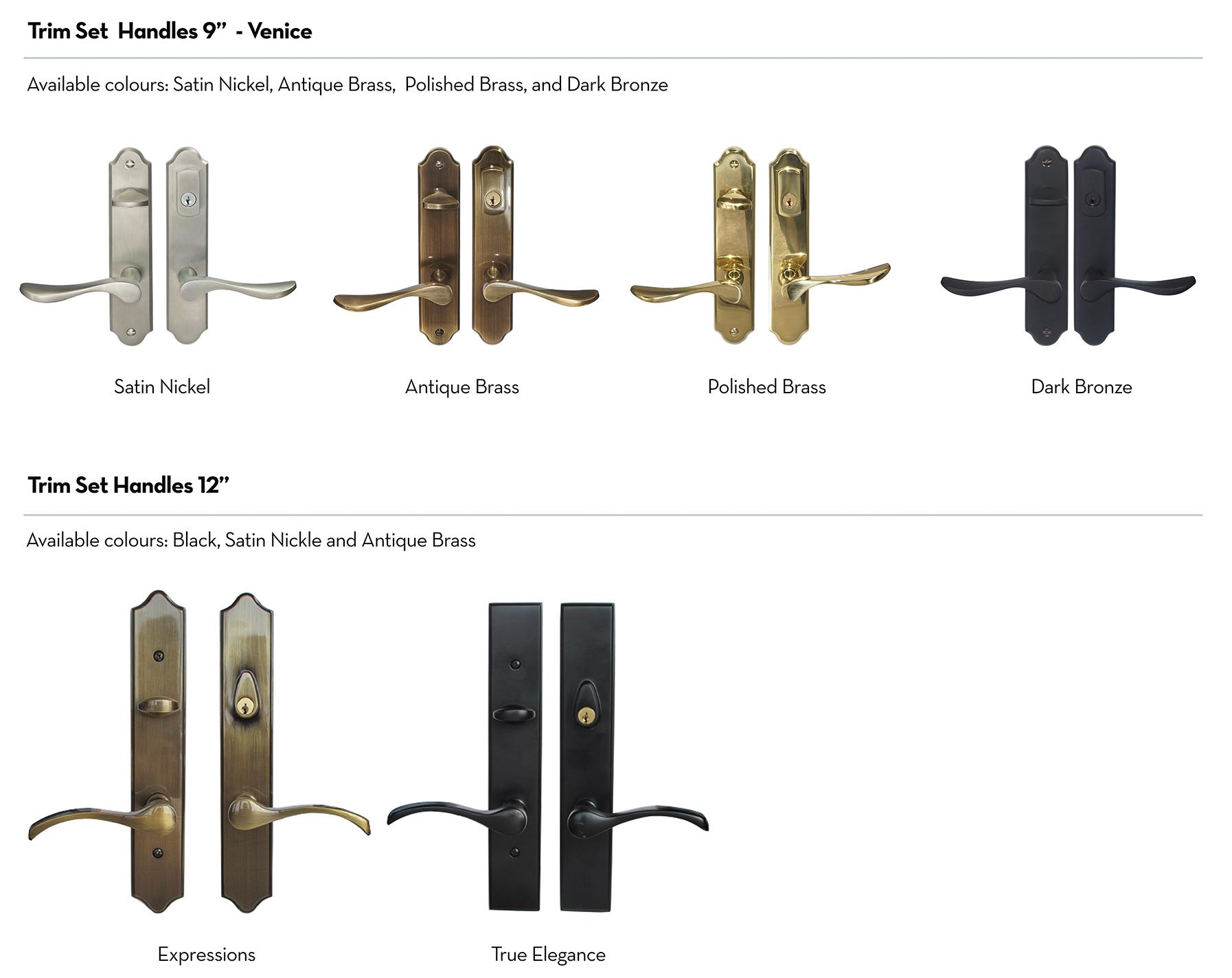 Patio Doors Hardwares