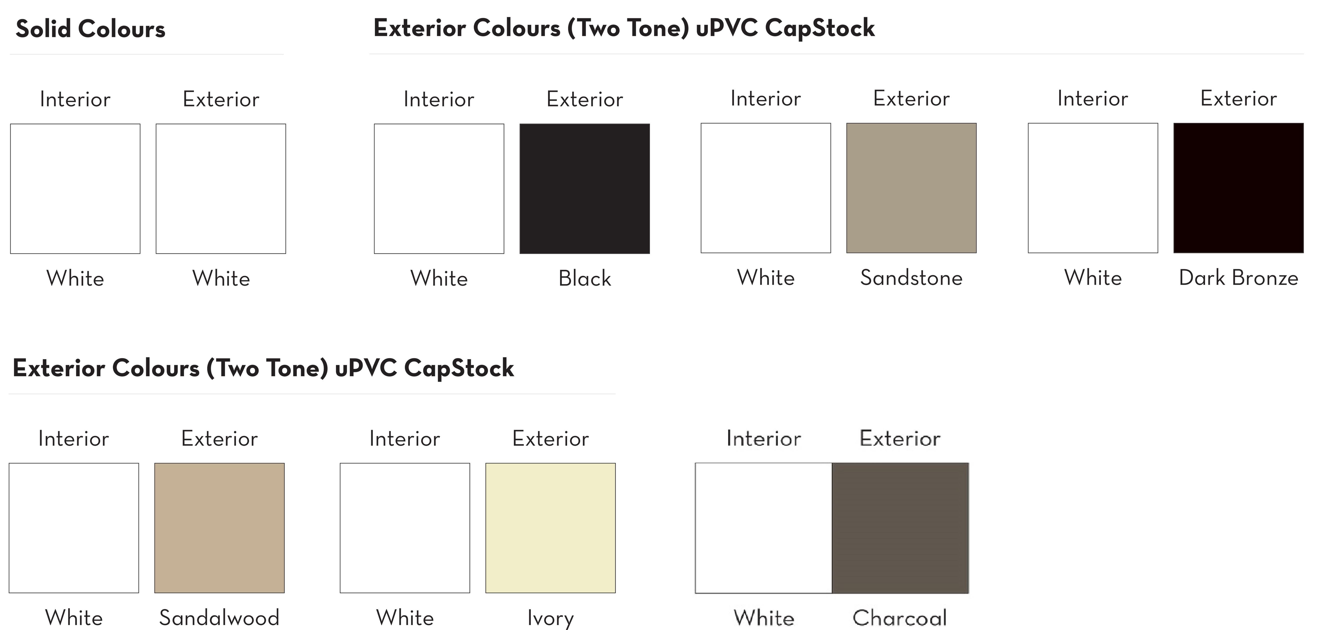 Patio Doors - Colours