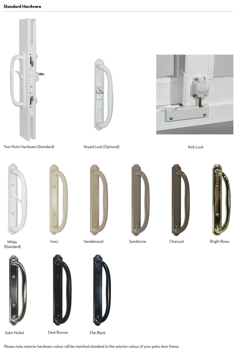 Patio Doors - Hardwares