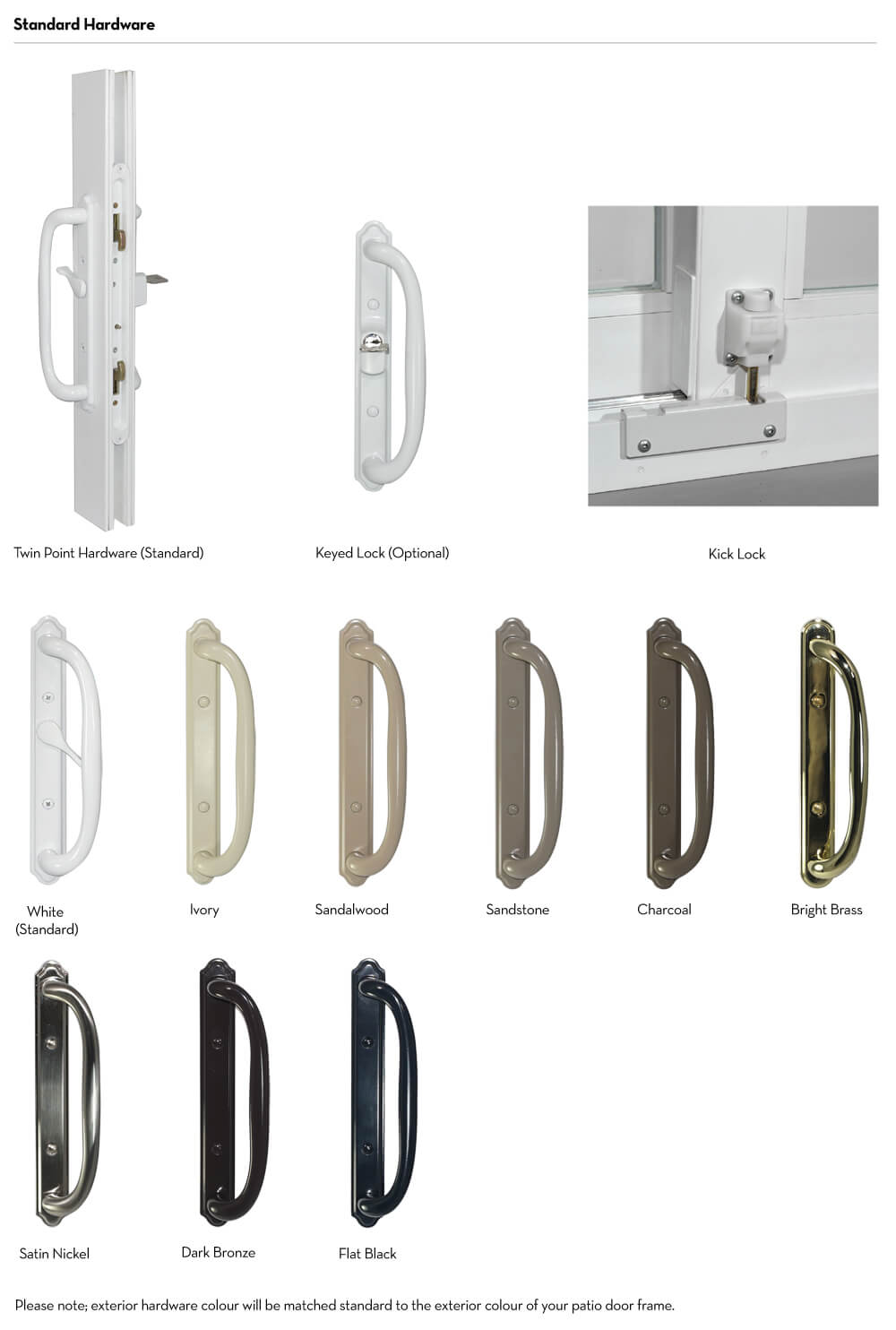 Patio Doors - Handle