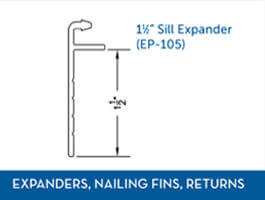 Awning window Expander Nail Fin Return1