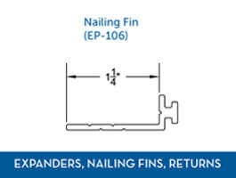 Awning window Expander Nail Fin Return2