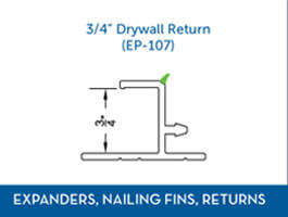 Awning window Expander Nail Fin Return3