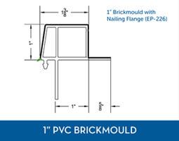 Awning windows - PVC Brick Mould1