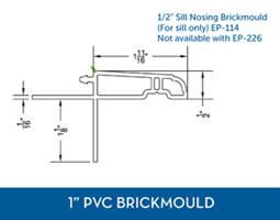 Awning windows - PVC Brick Mould4