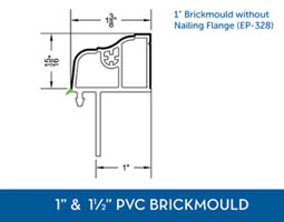 Awning windows - PVC Brick Mould6