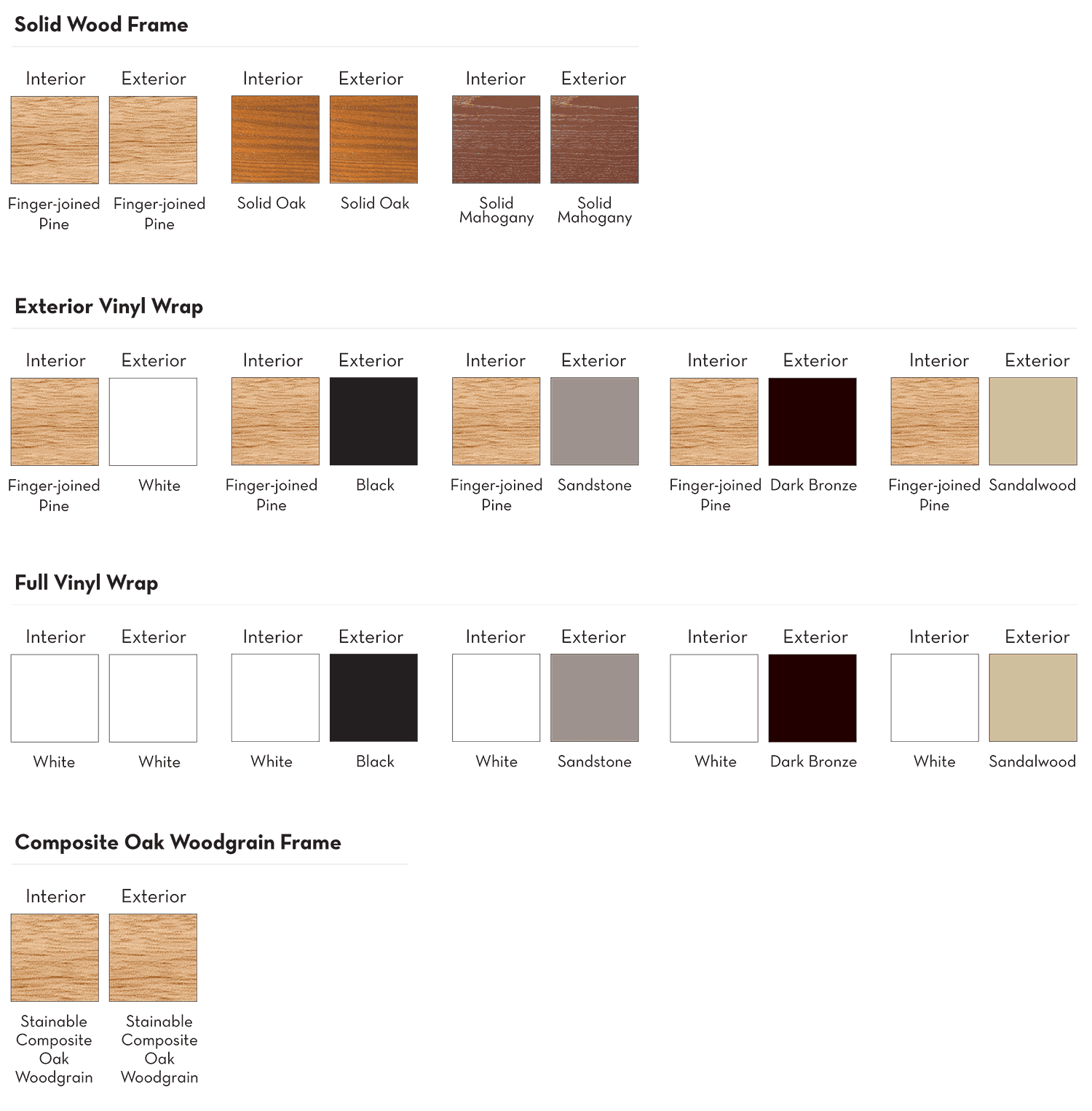 Entry Door Frame and Wrap Options