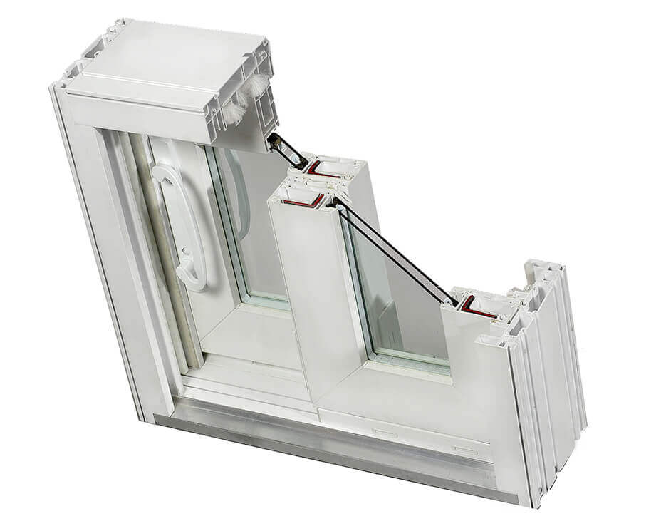 Patiodoor CrossSection Sliding