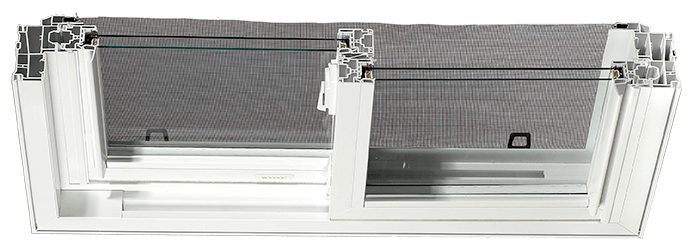 Vinyl Window WC250 CrossSection Display Image