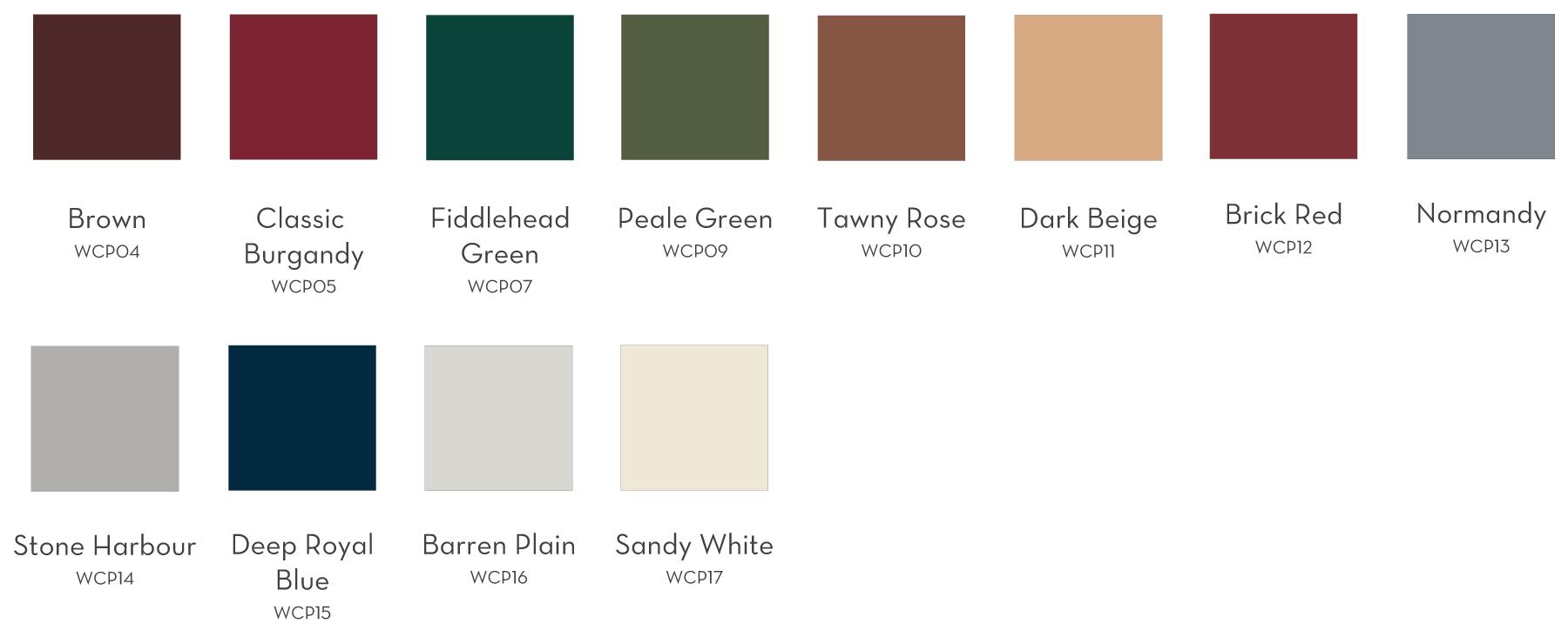 Vinyl Window Color Options