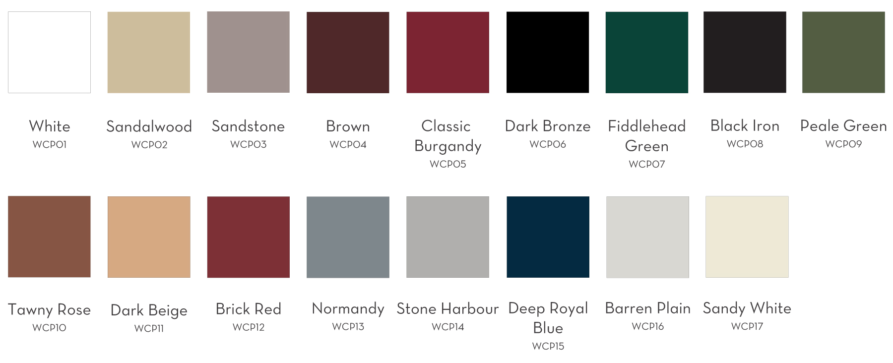 Vinyl Window Color Options
