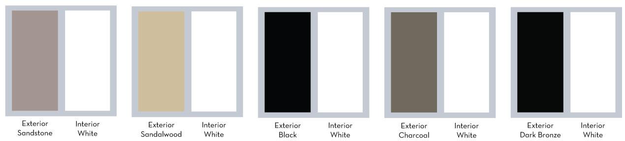 Vinyl Window Interior/Exterior Color Options