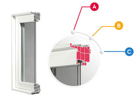 Vinyl Window WC475 CrossSection layout