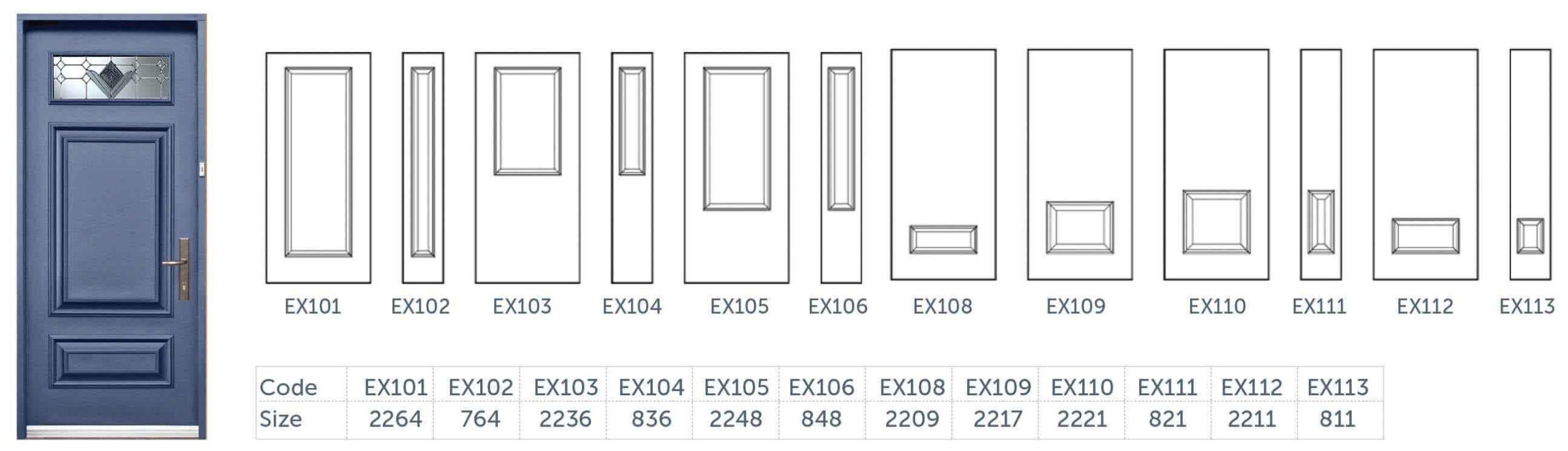 Entry Door Insert Options2