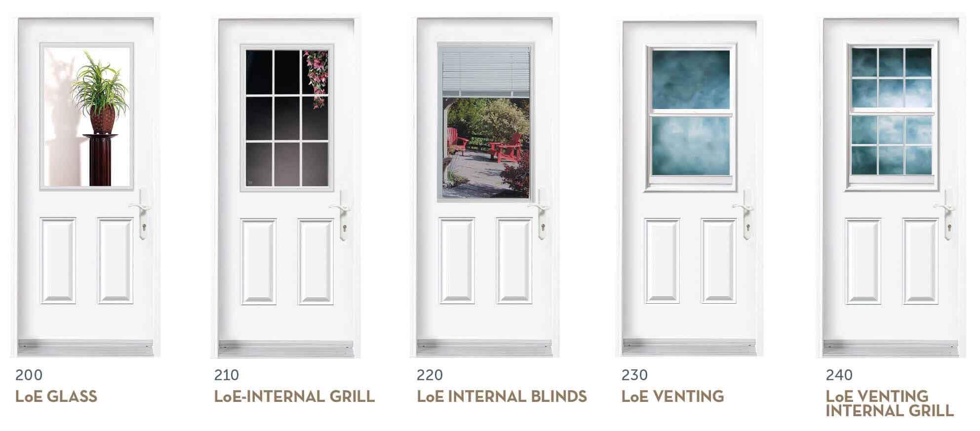 Entry Door Insert Options